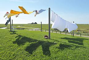 Wäsche auf der Leine trocknen - Energie sparen im Sommer