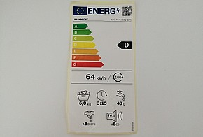 Energieeffizienzlabel einer Waschmaschine ab 2021