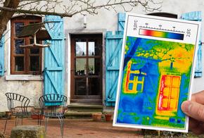 Wärmebild eine Hauses